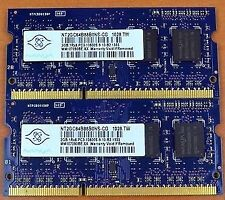 Nanya NT2GC64B88B0NS-CG 4Gb (2x2Gb) 1Rx8 PC3-10600 Laptop RAM
