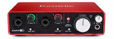 Focusrite Scarlett 2i2 (2nd Gen) USB 2.0 Audio Interface + Pro Tools & Ableton