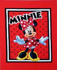 MINNIE Mouse-Born to Shop Quilting Craft Panel-COT QUILT pannello tessuto di cotone