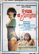 manifesto 2F film IL VIZIO DI FAMIGLIA Edwige Fenech Orchidea De Santis 1975