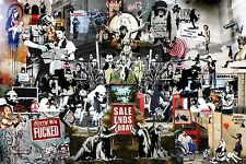 "Banksy Collage A1 30"" x 20"""