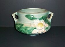"""Beautiful Vintage ROSEVILLE Art Pottery """"Water Lily"""" Dual Handle Vase #663"""