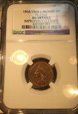 1864/1864 L on Ribbon Bronze Indian Cent. FS-2303 NGC AU