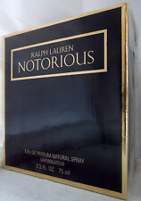 NOTORIOUS RALPH LAUREN 2.5 OZ / 75 ML EDP SPRAY RARE FIND DISCONTINUED WOMEN