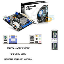 UPGRADE BUNDLE COMPLETO KIT SCHEDA MADRE + CPU PROCESSORE AMD + RAM 8GB 1600MHz