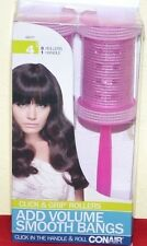 NEW 4 Pcs Conair Click & Grip Rollers Add Volume Smooth Bangs 3 Rollers 1 Handle