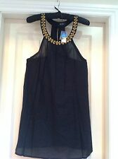 WOMENS BLACK HOLIDAY TOP SIZE MEDIUM 10-12 F&F