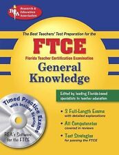 """""""LIKE NEW COND"""" FTCE General Knowledge WITH CD 3 FULL-LENGTH EXAM"""