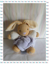 C - Doudou Lapin Boule Mauve Violet Rose Beige Collection Plume  Kaloo