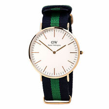 Daniel Wellington 0105DW Men's White Dial Blue & Green Band Watch