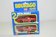 BBURAGO BURAGO 4200 GIFT SET GIFTSET 2 CARS FERRARI GTO RALLY NEAR MINT BOXED