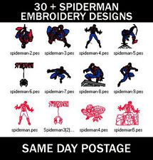 30 + Spiderman Machine Embroidery PES Design Images CD (Free UK Delivery)