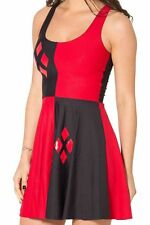 Harley Quinn Dress Reversible Stretchy Skater Dress UK Size 8/10 Small