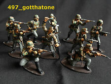 Airfix 1/32 professionnellement painted german camouflaged infanterie ww2. 54mm.