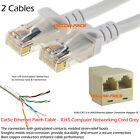 3M Cat5e RJ45 10/100 Ethernet Network LAN Cable Patch+Lan Splitter PC to Router