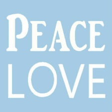 PEACE LOVE STENCIL WORD WORDS CRAFT STENCILS TEMPLATE TEMPLATES PATTERN NEW