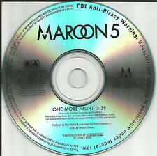 MAROON 5 One More Night ULTRA RARE TST PRESS PROMO Radio DJ CD single MINT USA