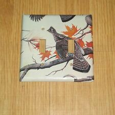 NATIVE RUFFED GROUSE HUNTING GAME BIRD 2 HOLE LIGHT SWITCH COVER PLATE #8