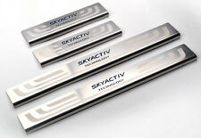 Stainless Steel 4PCS Door Sill Scuff Plate For Mazda M3 Axela 2014 2015 Sedan