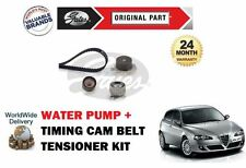 FOR ALFA ROMEO 147 1.6i 16V 2000--  GATES TIMING CAM BELT KIT + WATER PUMP SET