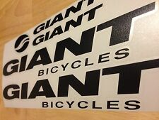 Giant Bicycle Decal Set (Gloss Black)