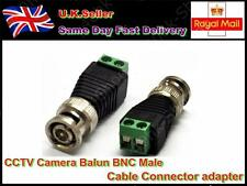CCTV Camera TV Video Balun BNC Male Cable Connector Adapter