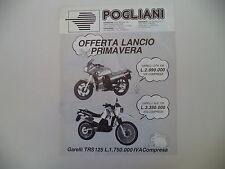advertising Pubblicità 1987 POGLIANI e MOTO GARELLI GTA 125/TIGER XLE 125