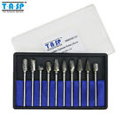 New 10PC Tungsten Carbide Rotary Burrs Set Dremel Milling Bits Tools Accessories