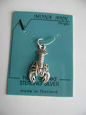 Sterling Silver Medium Lobster Pendant New