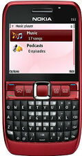 Nokia E63 Mobile- Red