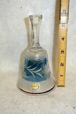 Bohemia Gold Trimmed Rose Cut Crystal Dinner Bell New with Tag Made in CZECH