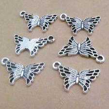 30pc Tibetan Silver butterfly Animal Pendant Charms Jewellery Accessories GP565