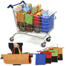 4pcs/set of Cartable Bags Reusable Grocery Cart Shopping Trolley Carrier Bags