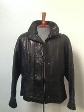 MICHAEL LAWRENCE Vintage Mens Designer Black Soft Genuine Leather Jacket Size M