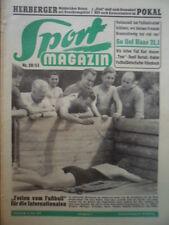 SPORT MAGAZIN KICKER 28A - 8.7. 1953 * Nationalelf in Wartaweil Pokal FC Basel