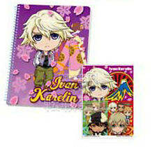 Tiger and Bunny Ichibankuji Ivan Karelin Spiral Notebook and Stickers NEW