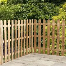 10 Pack Of Treated Picket Pales Round Top Garden Fencing 70mm Wide 0.9m 3ft Long