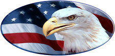 Full Color US Flag Eagle Scene Decal rv travel trailer camper Motorcoach USA