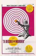 A DEGREE OF MURDER orig 1967 movie poster ANITA PALLENBERG/VOLKER SCHLONDORFF