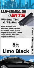 Jaguar X - type S-Type Vitre Teintée 5% Limousine Noir isolation UV Film solaire