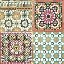 Grandeco Botanical Moroccan Tile Pattern Wallpaper Retro Floral Textured Motif