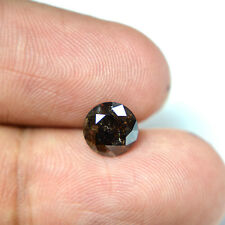 TOP GRADE 2.01 CTS ROUND CUT COGNAC BLACK REAL SOLITAIRE DIAMOND FOR RING