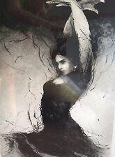 """Flamenco IV"""" Tomas Hrivnac  Signed Original Dry Point Engraving 2012 28/50"""