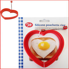 TALA Heart Shape Silicone Egg Poachette Rings RED Poacher Pancake Moulds Mold