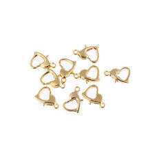 New gold plated heart Lobster Claw Clasps jewelry findings 20pcs for bracelet