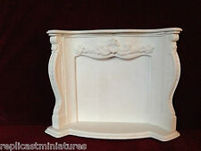 MN01 Louis Fire Surround & Hearth - Plaster - RepliCast Miniatures Dolls House