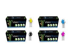 4 Toner cartouche pour HP Laserjet Pro CM1412FN CP1525 CP1525N