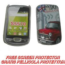 Pellicola + BACK cover RIGIDA LONDON STREET per Samsung Galaxy Mini S5570 (B4)