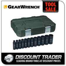 GearWrench 12 Piece 1/2 Inch Drive Impact Socket Set Deep Imperial SAE - 84942N