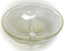 "Rene R. Lalique 9.25"" Coquilles Opalescent Art Glass Shell Bowl. C. 1920"